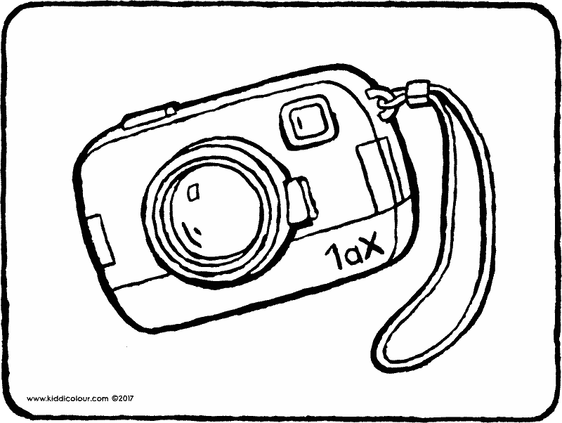 camera colouring page page drawing picture 01k