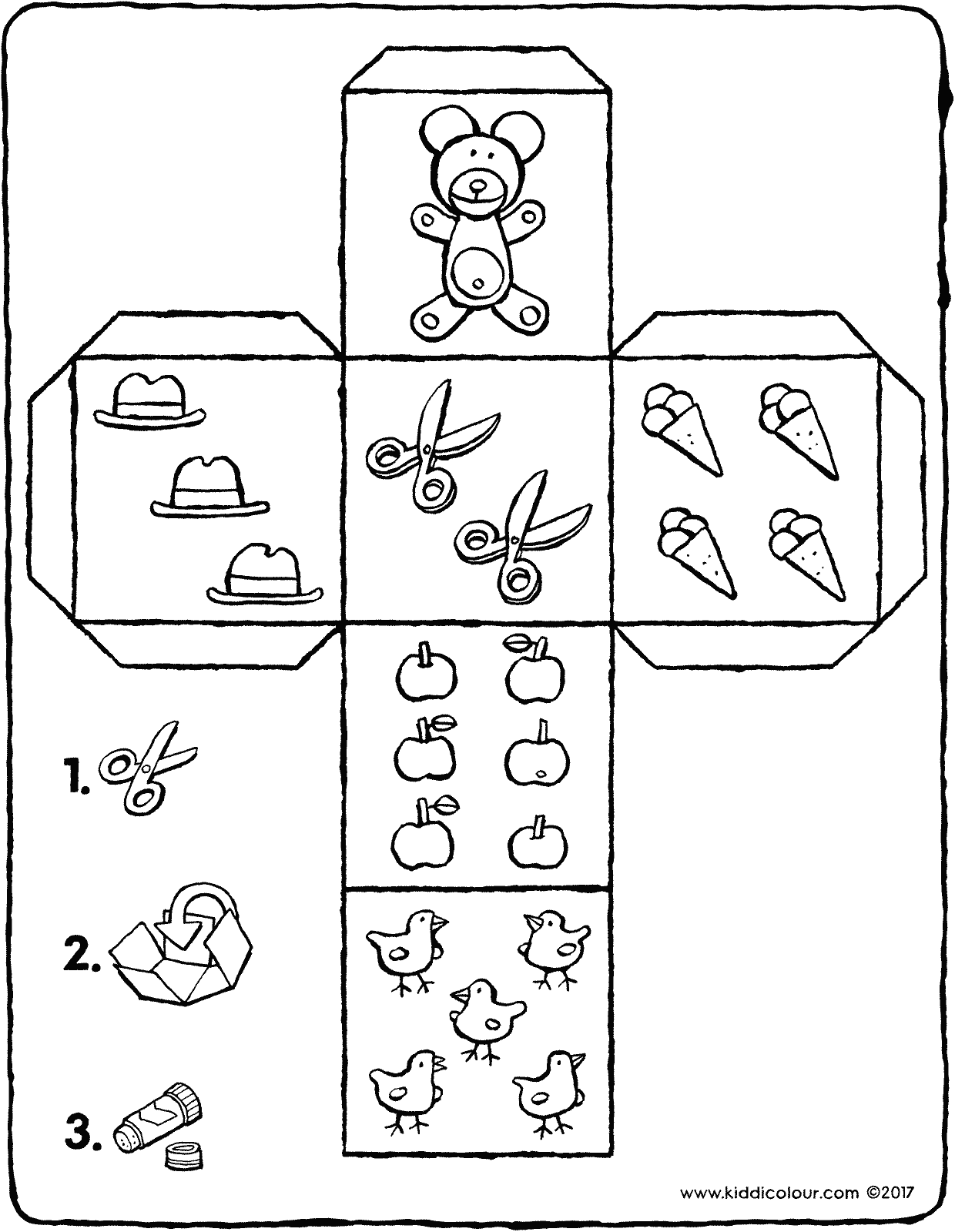 die crafts colouring page page drawing picture 01V