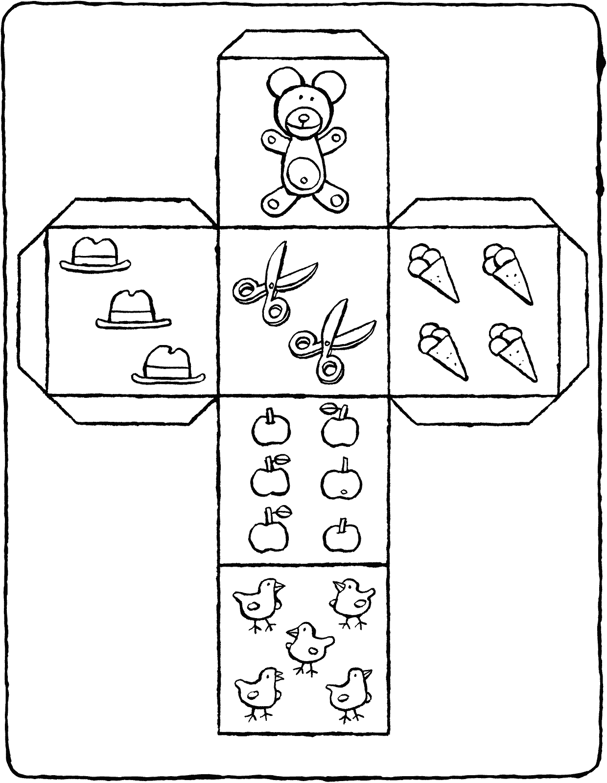 die crafts colouring page page drawing picture 01k