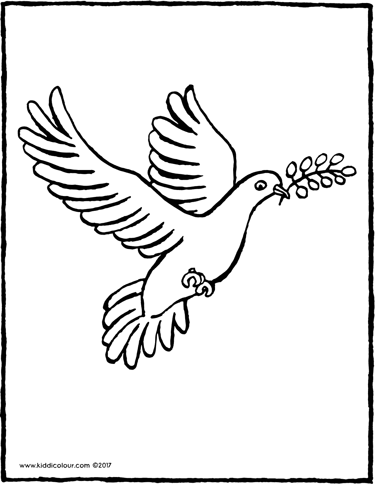 dove colouring page page drawing picture 01V