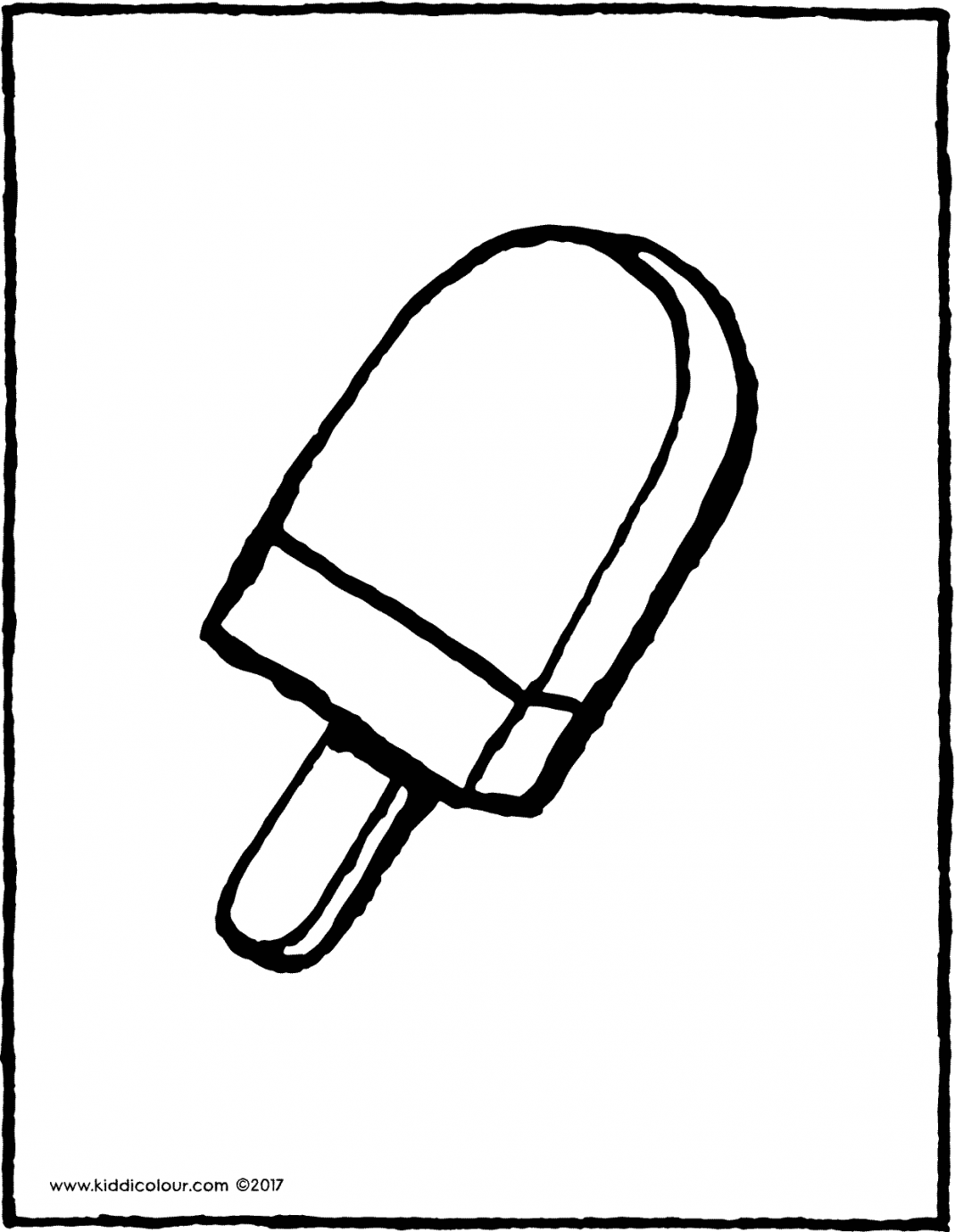ice-cream on a stick colouring page page drawing picture 01V