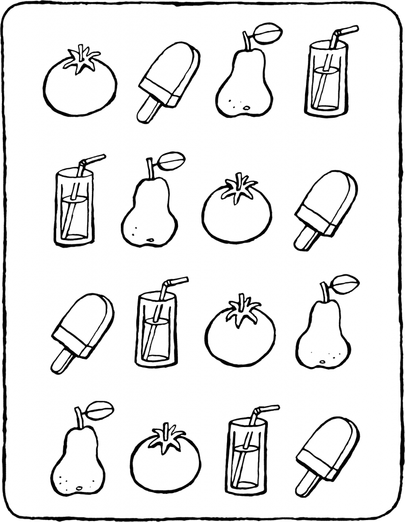 look at the pear math game colouring page page drawing picture 01V