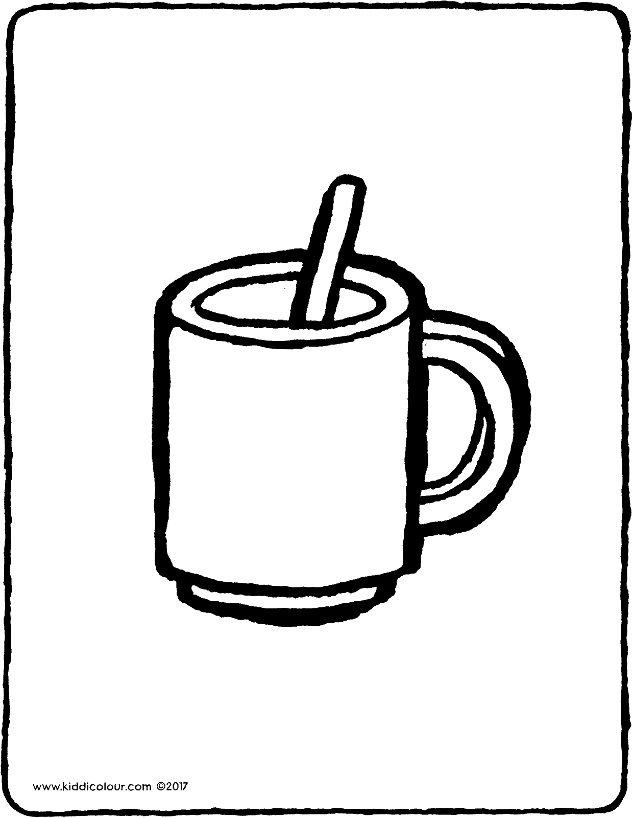mug and spoon colouring page page drawing picture 01V