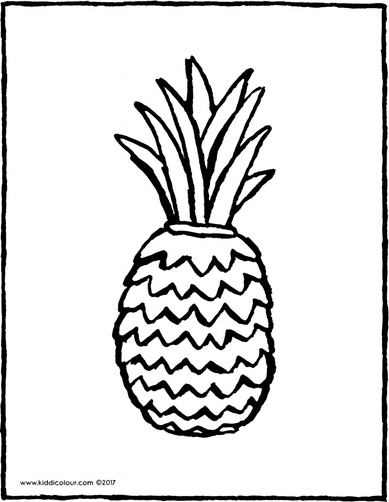 pineapple colouring page page drawing picture 01V