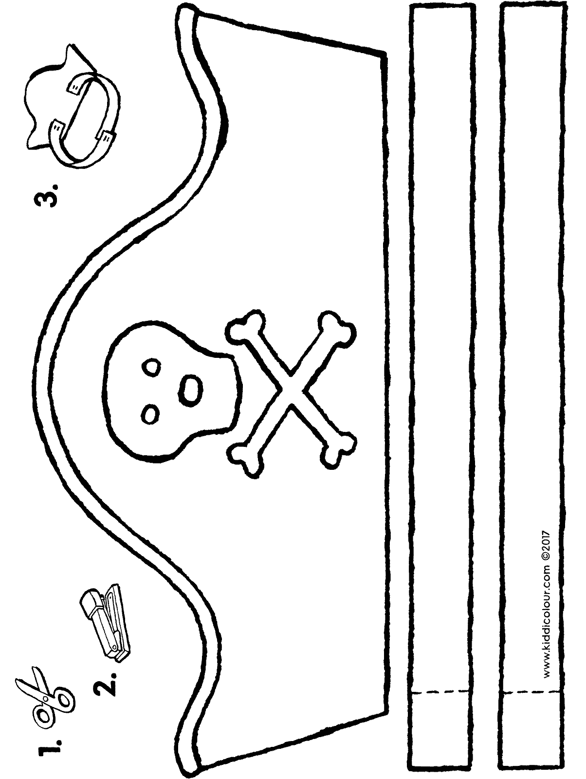 pirate hat crafts colouring page page drawing picture 01H