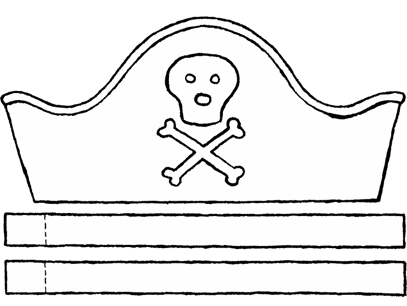 pirate hat crafts colouring page page drawing picture 01k