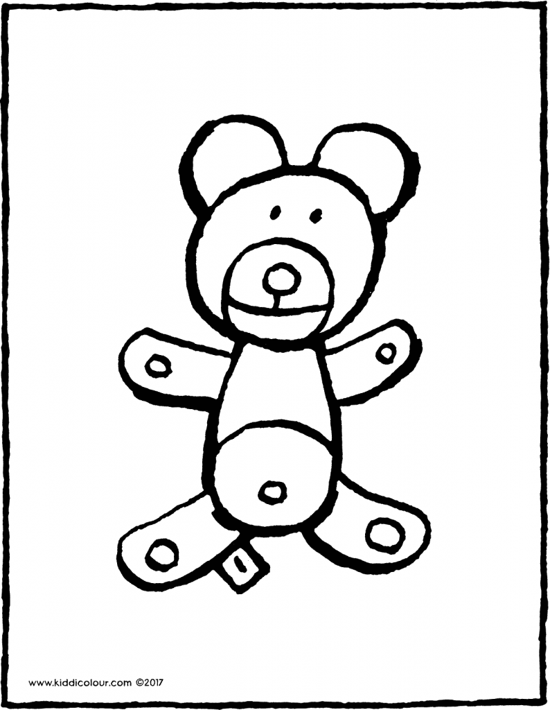 teddy bear colouring page page drawing picture 01V