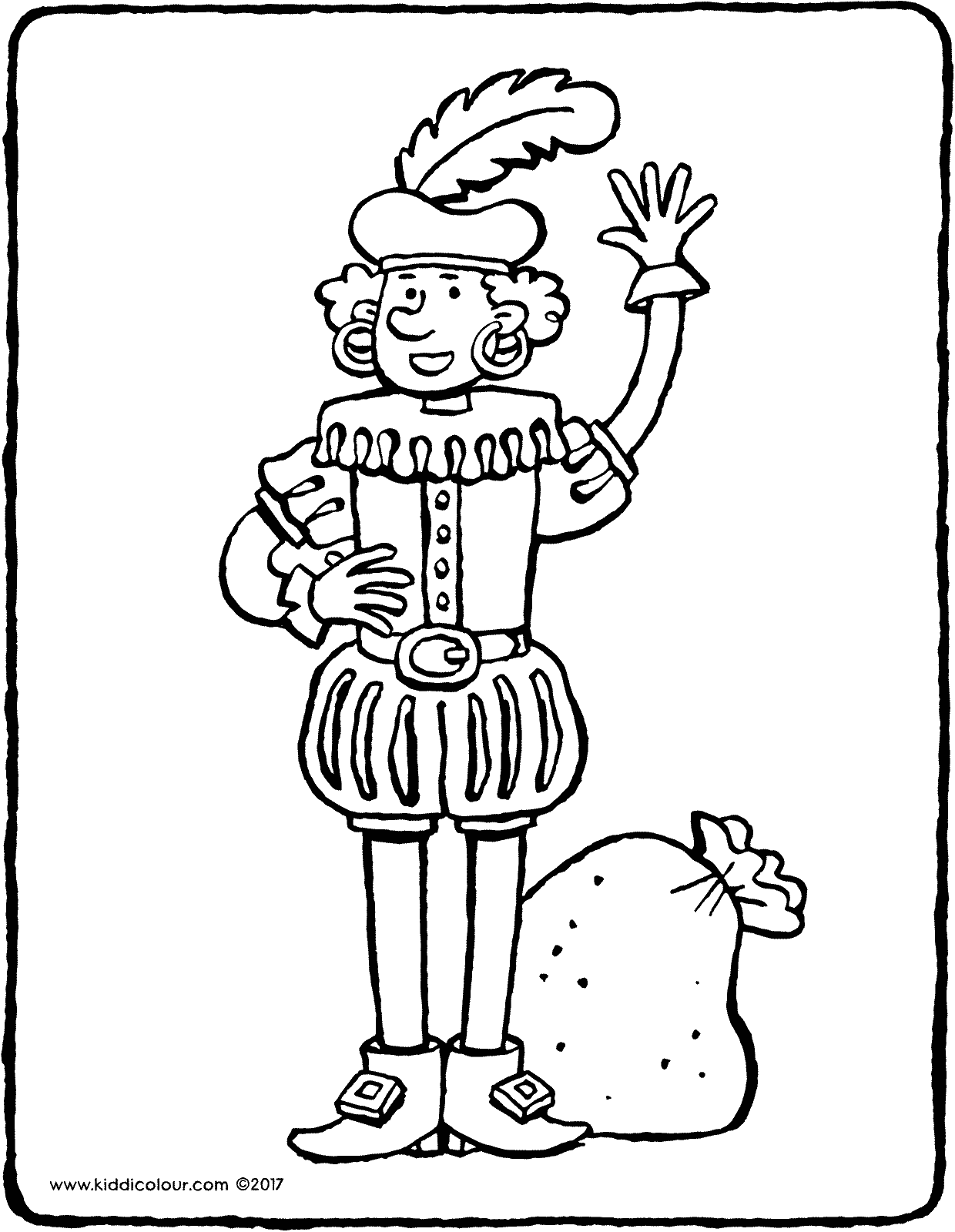 Black Pete colouring page drawing picture 06V