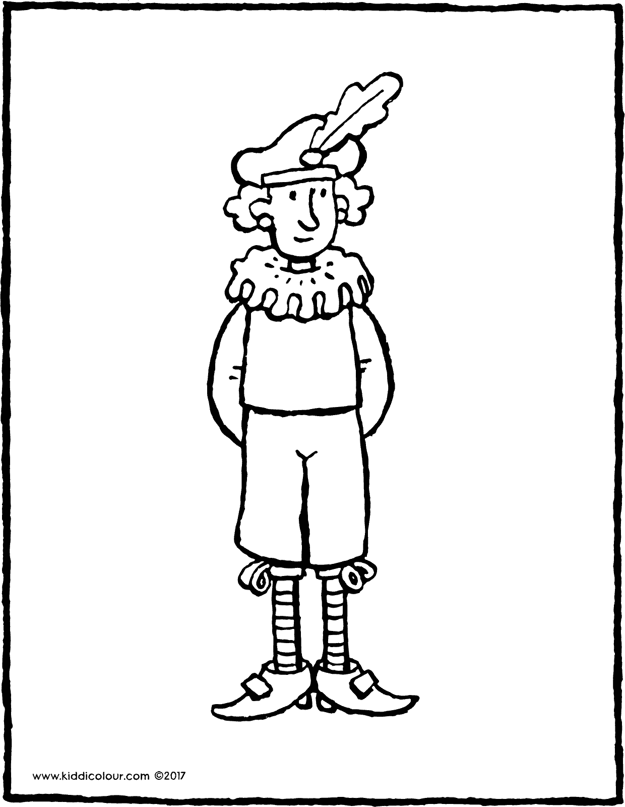 Black Pete colouring page page drawing picture 04V