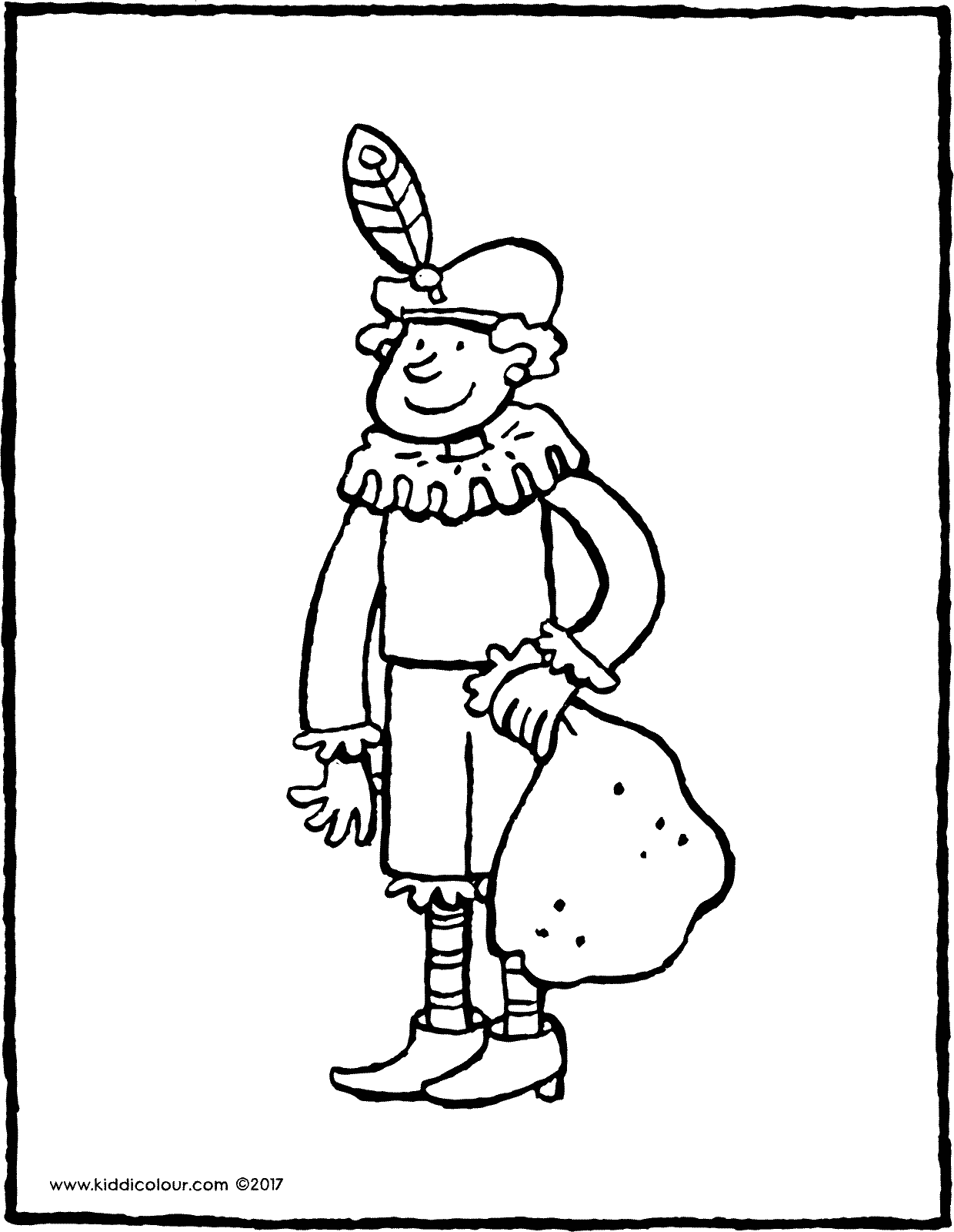 Black Pete colouring page page drawing picture 05V