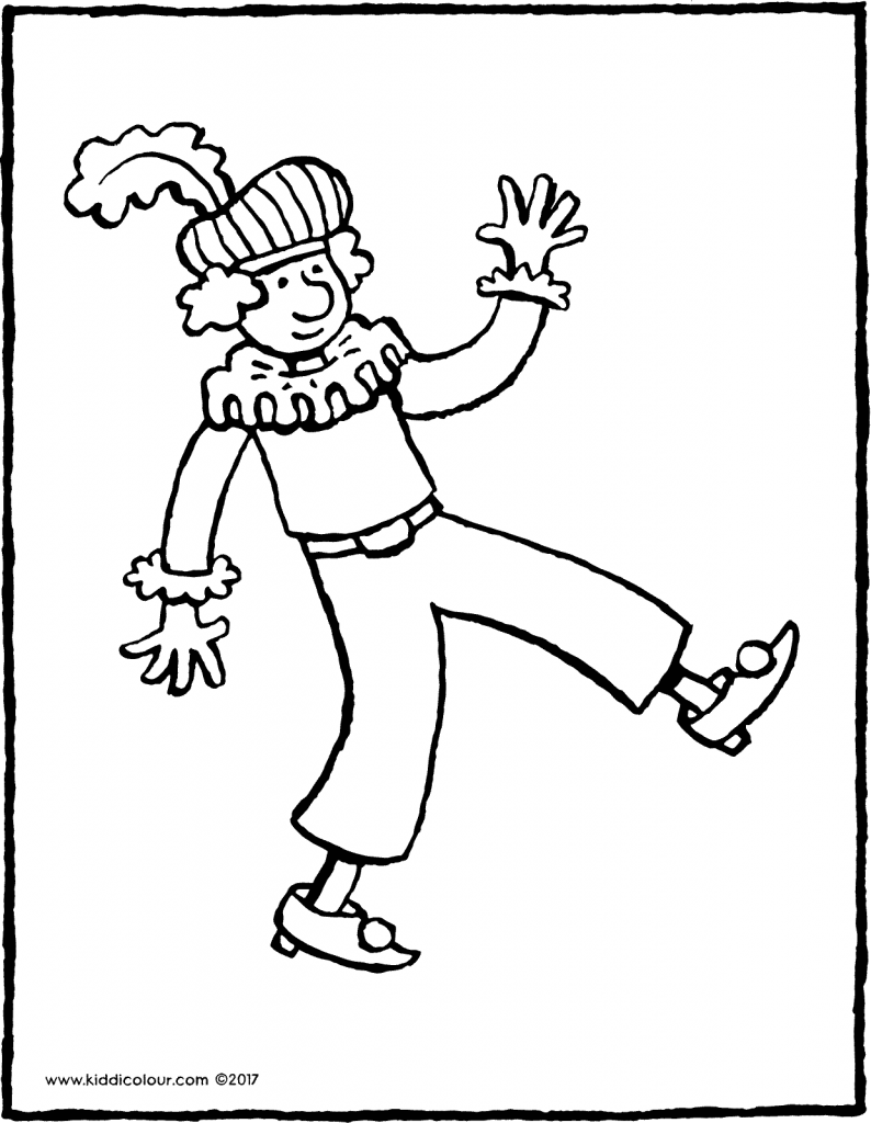 Black Pete colouring page page drawing picture page drawing picture 01V