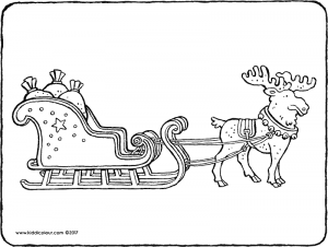 Father Christmas's sleigh with reindeer