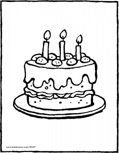 a cake with 3 candles