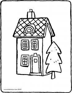 a house with a tree