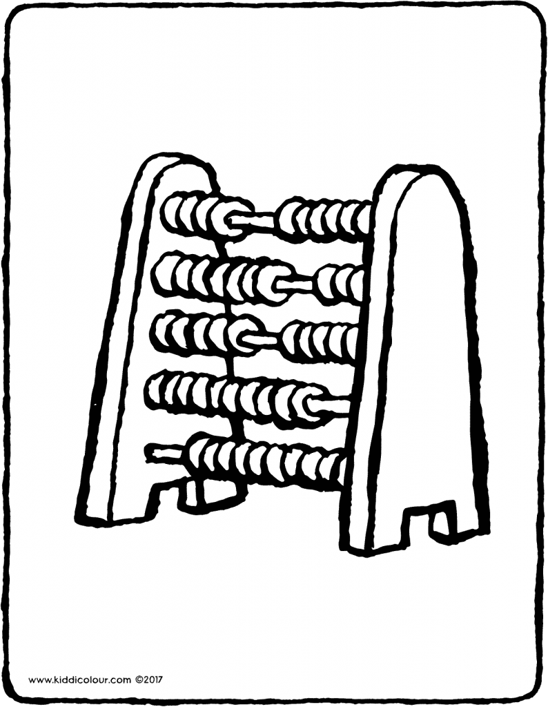 abacus colouring page page drawing picture 01V