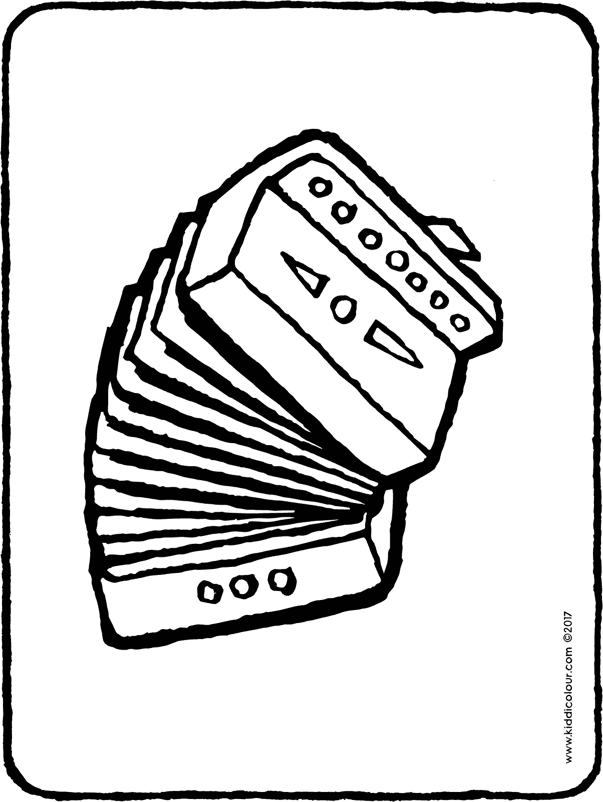 accordion colouring page page drawing picture 01H