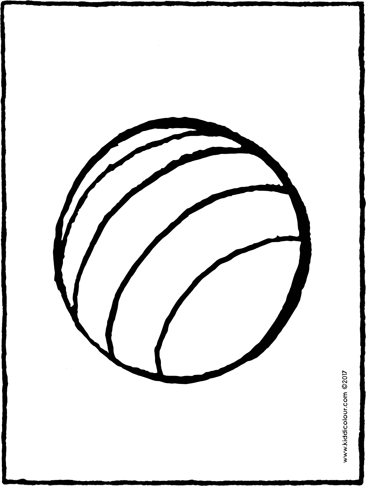 ball colouring page page drawing picture 02H