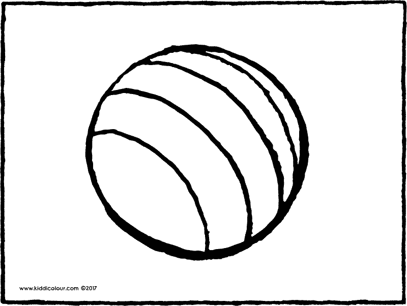 ball colouring page page drawing picture 02k