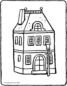 house with lamppost