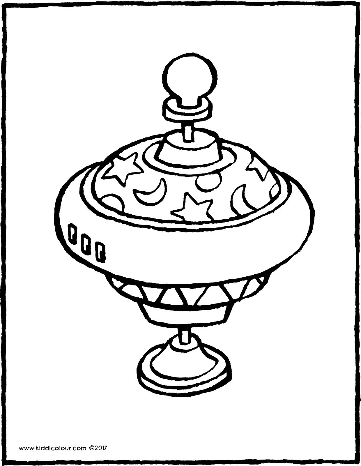 humming top colouring page page drawing picture 01V