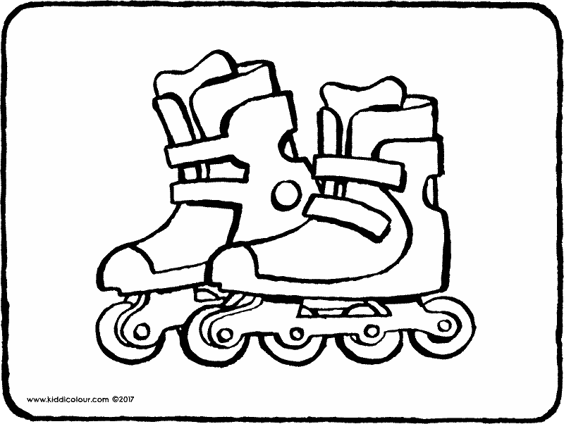 rollerblades colouring page page drawing picture 01k