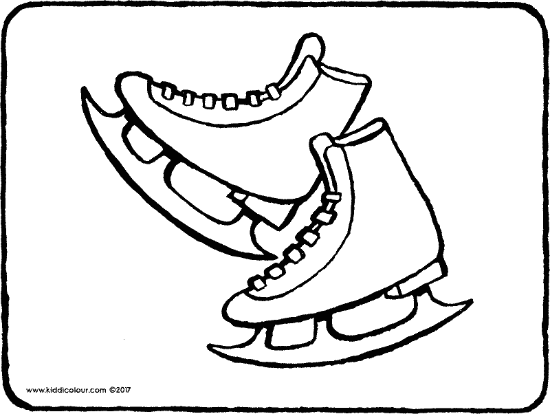 skates colouring page page drawing picture 01k