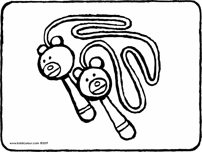 skipping rope colouring page page drawing picture 01k