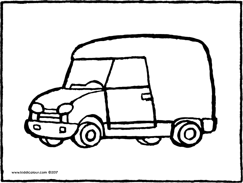 small van colouring page page drawing picture 01k