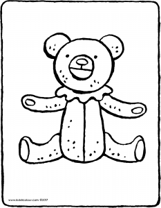 teddy bear with ruffle.