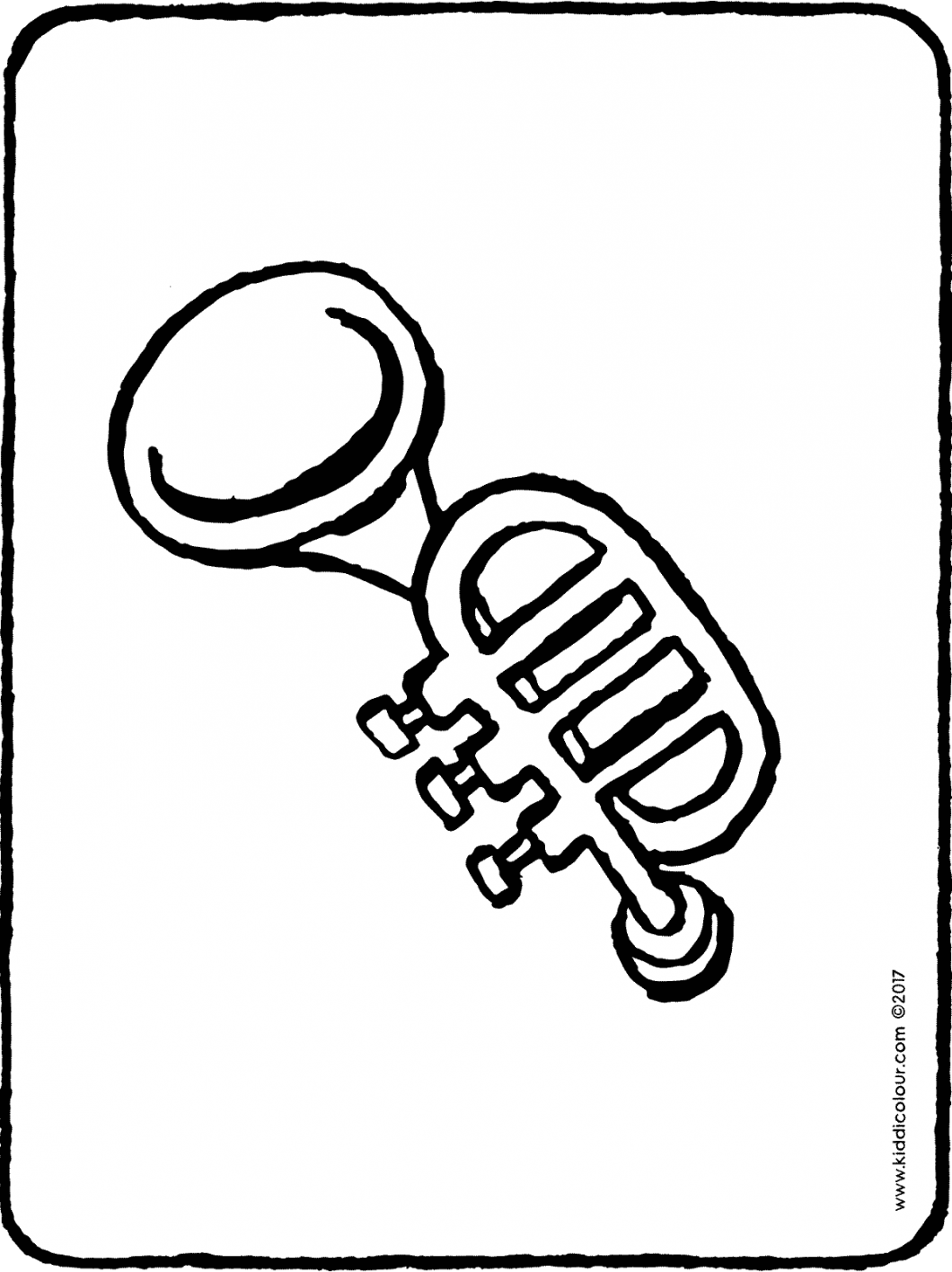 trumpet colouring page page drawing picture 01H