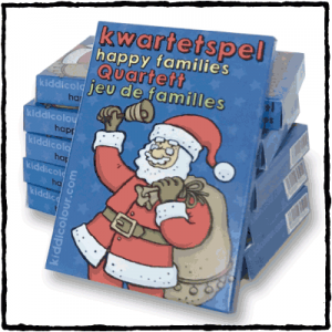 Christmas Happy Families card game package