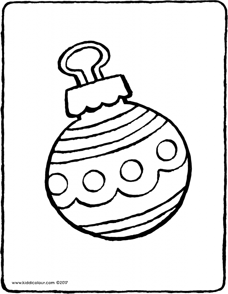 Christmas bauble colouring page page drawing picture 01V