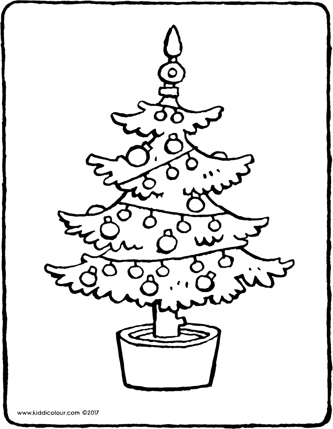 Christmas tree colouring page page drawing picture 01V