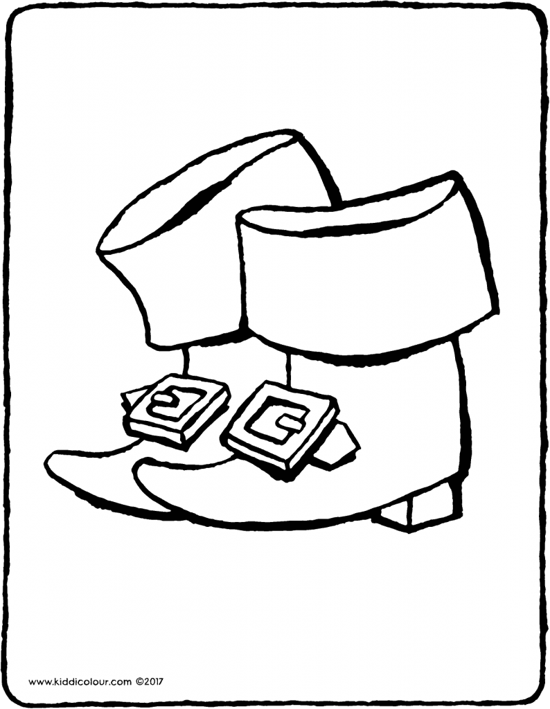Father Christmas' boots colouring page page drawing picture 01V