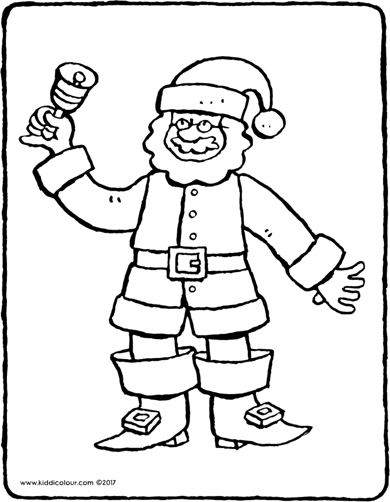 Father Christmas colouring page page drawing picture 01V
