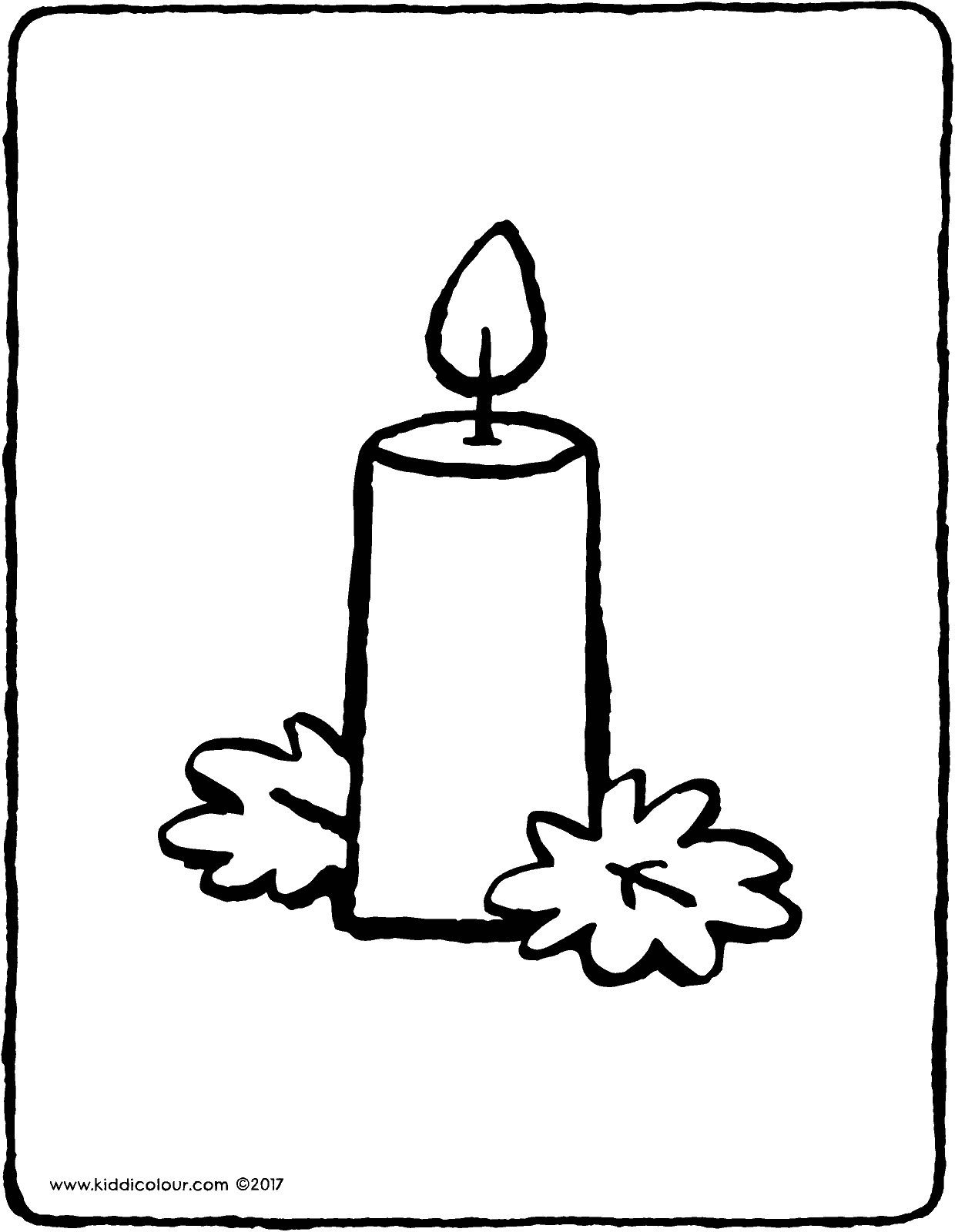 candle colouring page page drawing picture 01V