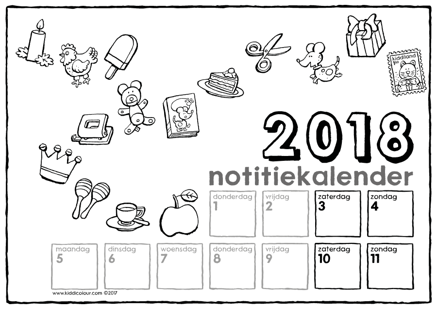 notitiekalender 2018