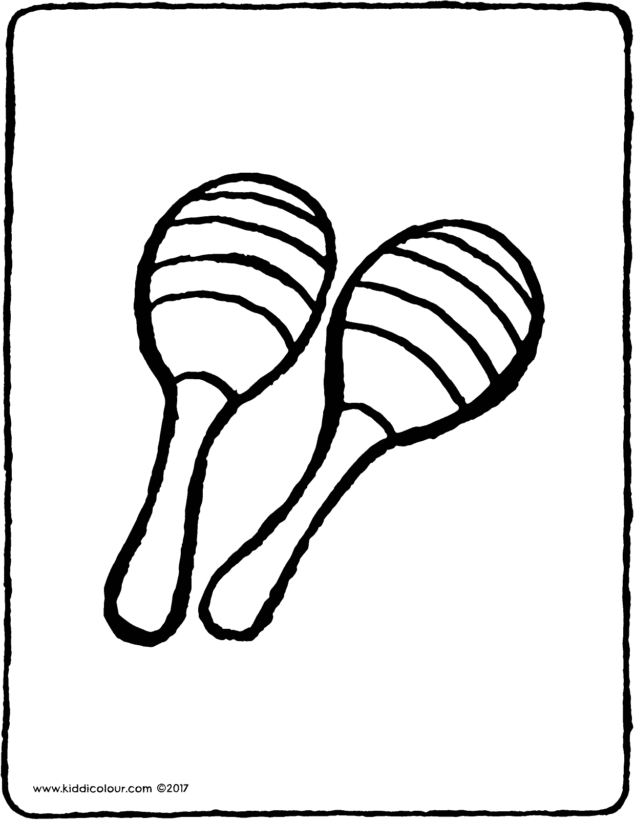 maracas colouring page page drawing picture 01V