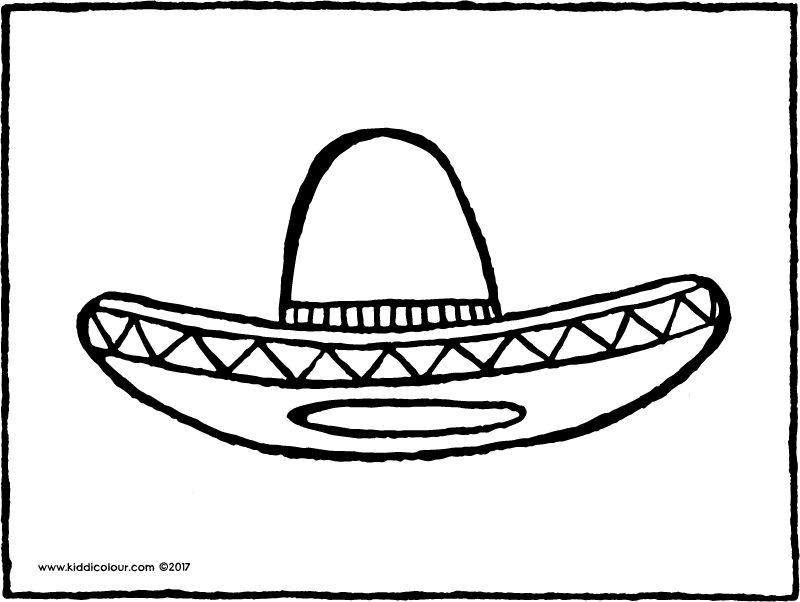 sombrero colouring page page drawing picture 01k