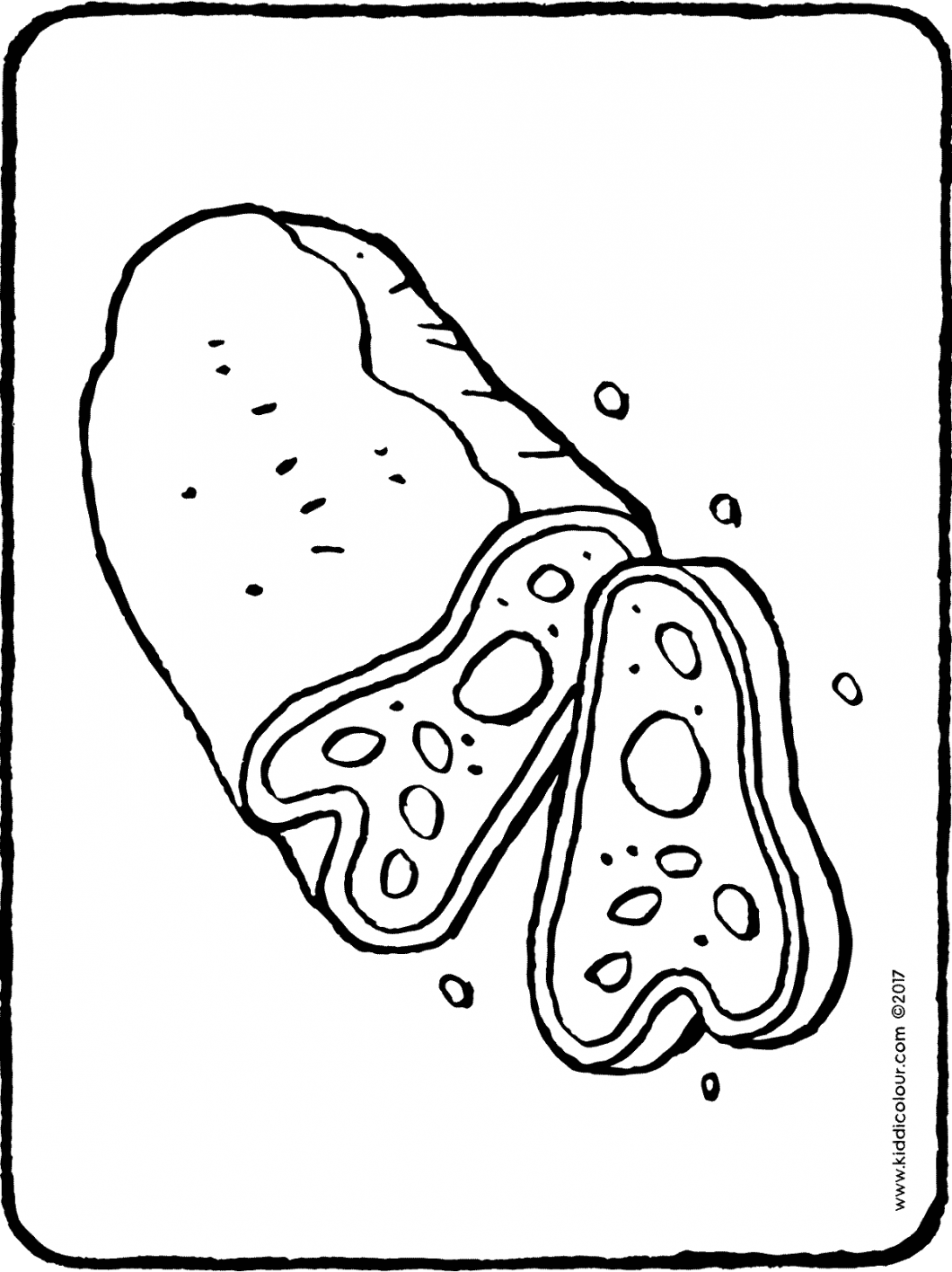 stollen colouring page page drawing picture 01H
