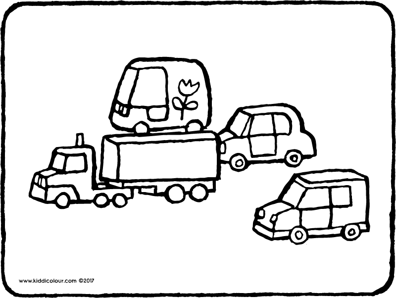 toy cars colouring page page drawing picture 01k