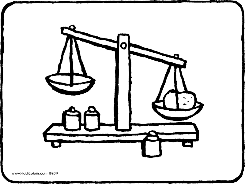 toy scales colouring page page drawing picture 01k