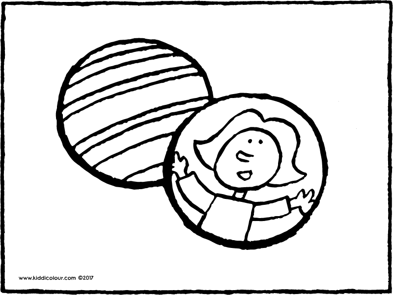 two balls colouring page page drawing picture 01k