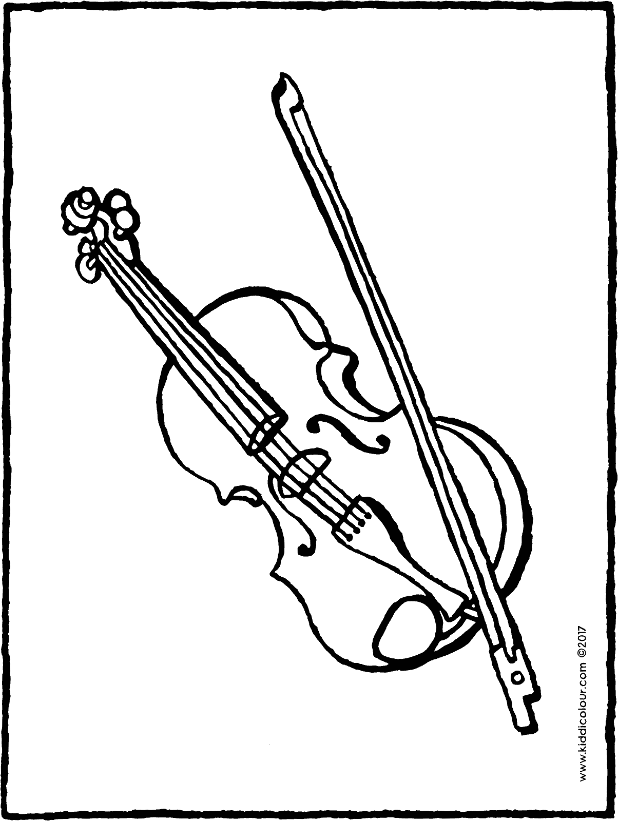 violin colouring page page drawing picture 01H