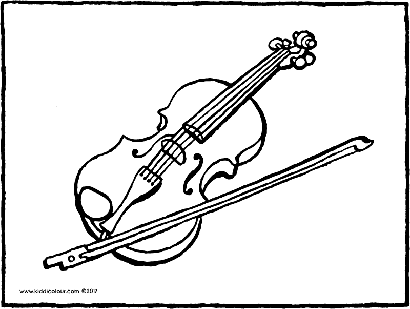 violin colouring page page drawing picture 01k
