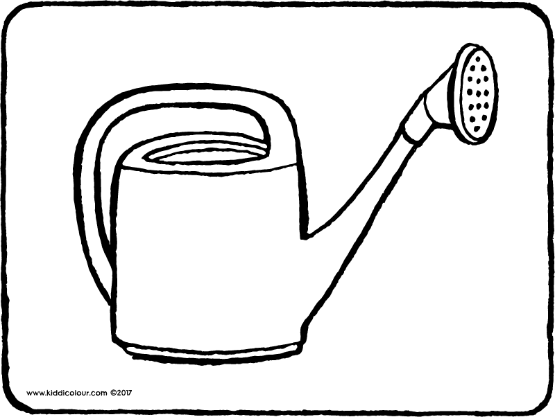 watering can colouring page page drawing picture 01k