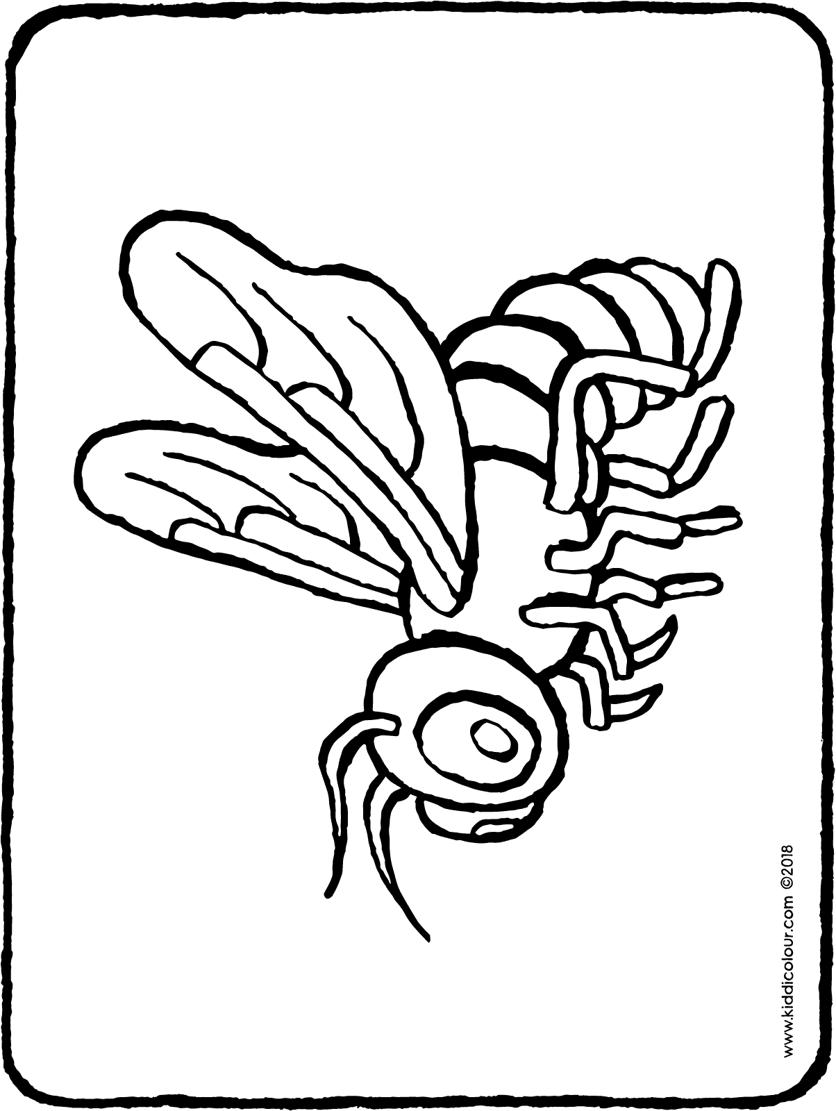 bee colouring page drawing picture 01H
