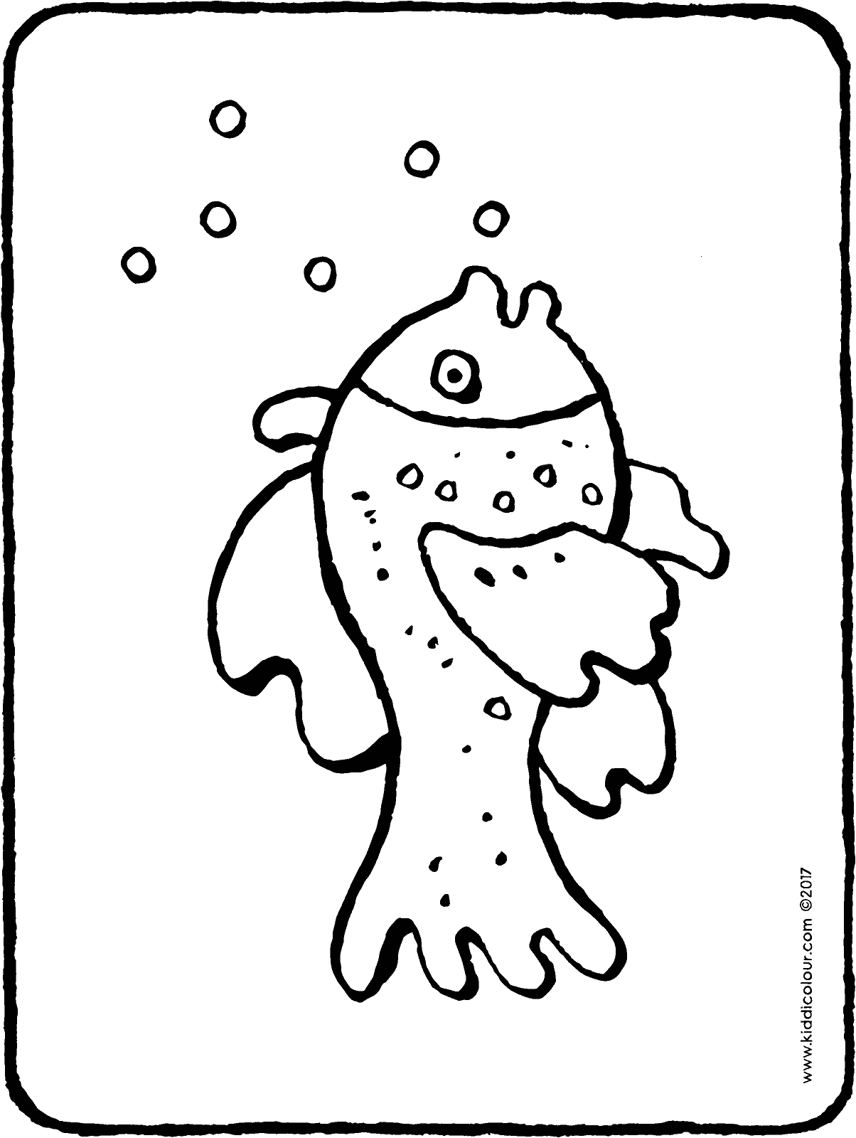 fish colouring page drawing picture 01H