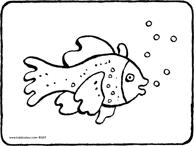 fish colouring page drawing picture 01k