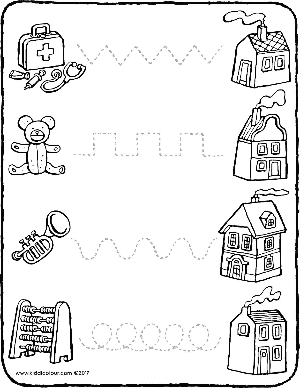 Worksheets Dotted Line Page follow the dotted lines kiddi kleurprentjes lines